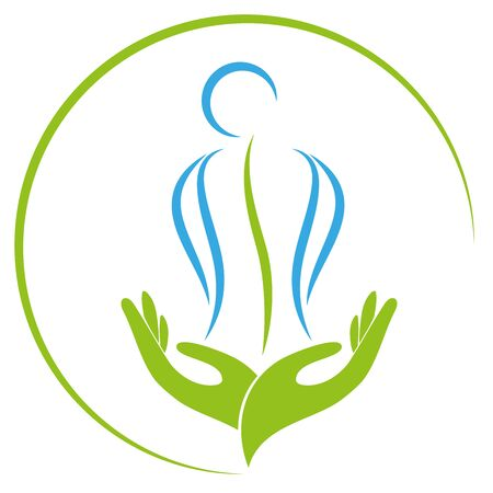 Two hands and person, orthopedics, massage