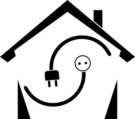 House electricity plug and electricity socket icon