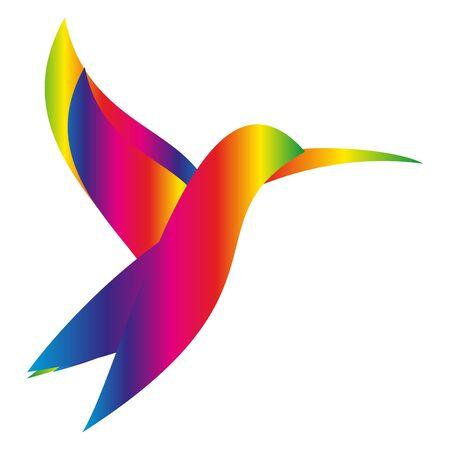 Hummingbird in color Illusztráció