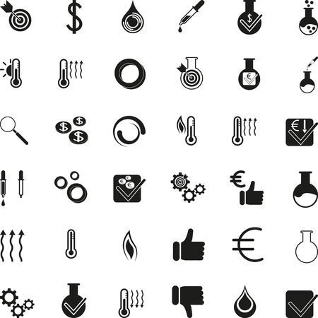 Different chemistry icons, laboratory, buttons, collection