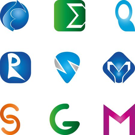 Different letters icon set