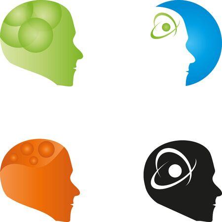 Different heads, faces set Illusztráció