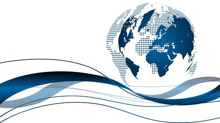 Globe and waves, earth, multimedia background