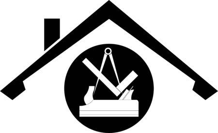 Carpenter tools, tools, carpenter, roofer Illusztráció
