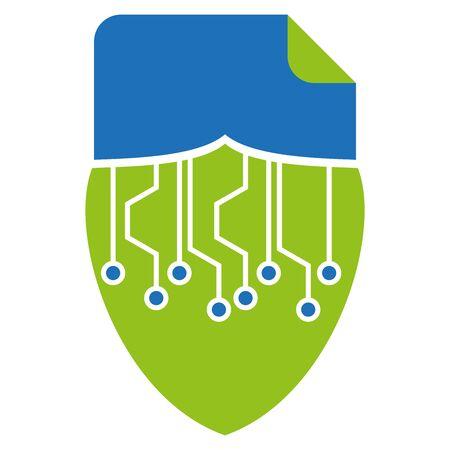 Data protection, secure data, security, data, document Illusztráció