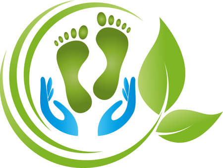Hands and feet, physiotherapy and podiatry, massage Vektorgrafik
