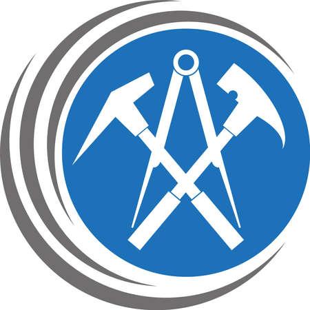 Tools, roofers tools, roofers 向量圖像