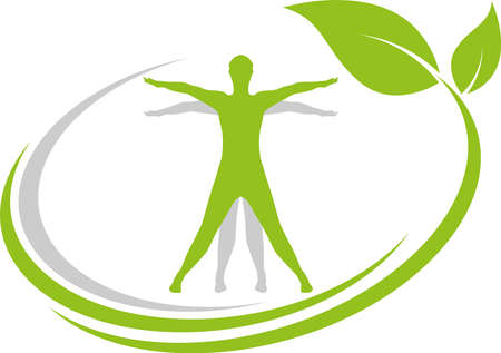 Person in motion, person, leaves, alternative practitioner, wellness 向量圖像