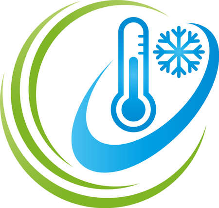 Thermometer and snowflake, temperature, climate 向量圖像