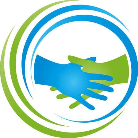 Handshake, two hands, team