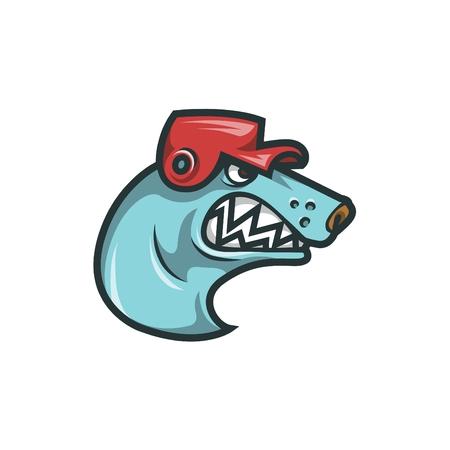 Dog Head Mascot