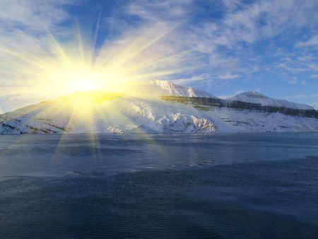 icescape: Coast winter season