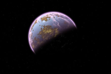 Some planet in deep space. Stock Photo - 3930133