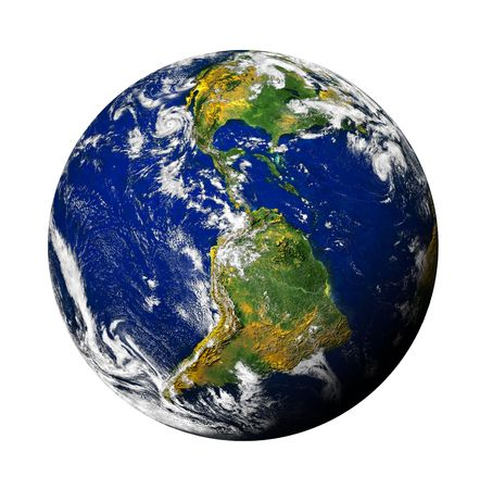 Planet Earth isolated