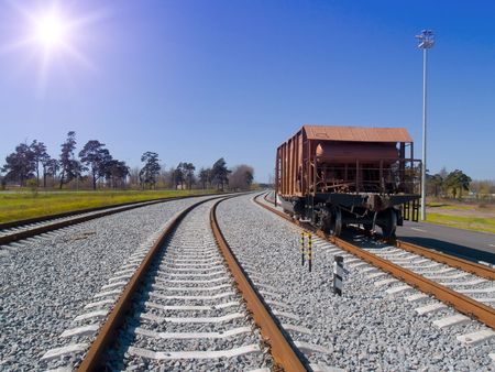 waggon: Lost somebody waggon at railway