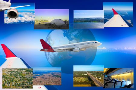 hi resolution: Hermoso collage de fotos aviones en alta resoluci�n