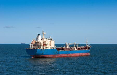 Great still tanker in Atlantic ocean photo
