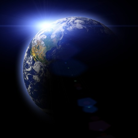 Real Earth Planet. Blue Idill. photo