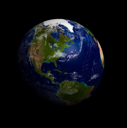 3D Model of Earth Planet. Blue Idill. Stock Photo - 7248386