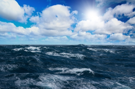 Storm sea with white horses on waves Stock Photo - 7429728