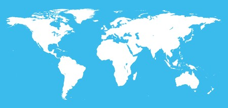 Real detail world map of continents Stock Photo - 7429699