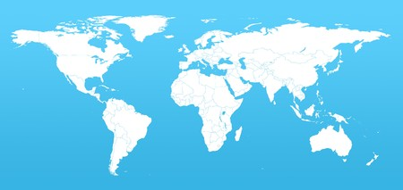 Real detail world map of continents Stock Photo - 7429698