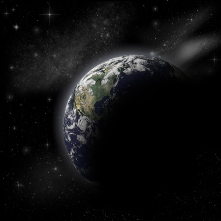 3D Model of Earth Planet photo