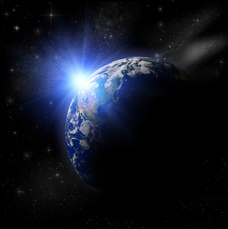 3D Model of Earth Planet. Blue Idill. Stock Photo - 7429695
