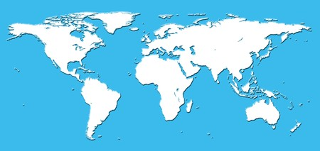 Real detail world map of continents