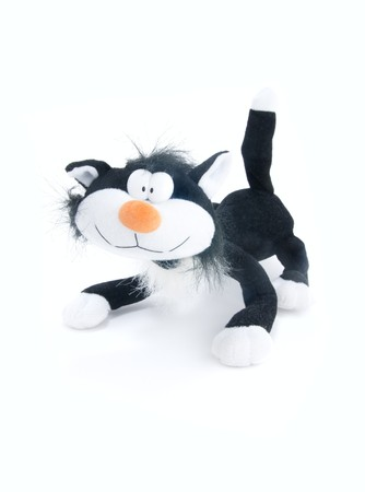 cat toy: Dulce gato suave juguete para beb�  Foto de archivo