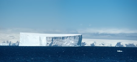 Antarctic ice island in atlantic ocean. South Orkney Islands. photo