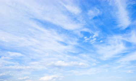 Cloudscape. Blue sky and white fluffy cloud. Stock Photo - 8367818