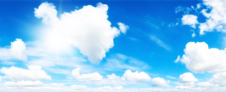 Cloudscape. Blue sky and white cloud. Stock Photo - 8367808