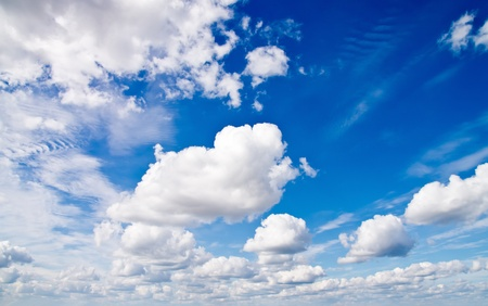 cumulus: Cloudscape. Day Blue sky and white cloud. Stock Photo
