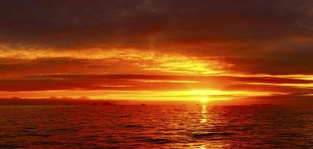 Sea sunset idyll  South Georgia  South Ocean  photo
