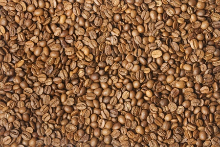 Coloured coffee texture. Coffee beans closeup. Stock Photo - 12653610