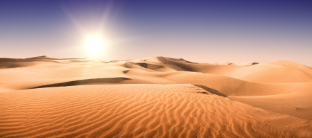 Gold desert into the sunset  Canary Islands, Canaries  Grand Canary  Maspalomas, Resort Town  photo