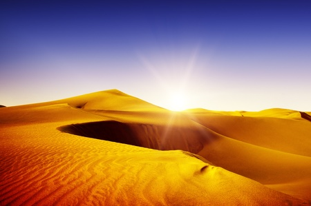 Gold desert into the sunset  Canary Islands, Canaries  Grand Canary  Maspalomas, Resort Town Stock Photo - 12653636