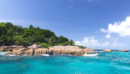 La Digue island, Seyshelles. The island of dreams for a rest and relaxation. Stock Photo