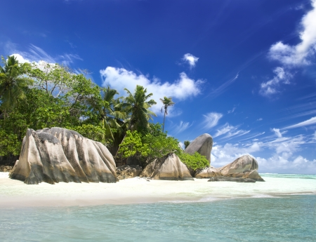 La Digue island, Seyshelles, Anse Source d'Argent. The island of dreams for a rest and relaxation. Stock Photo - 16055677