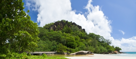 brige: Mahe island, Seyshelles. The island of dreams for a rest and relaxation. Stock Photo