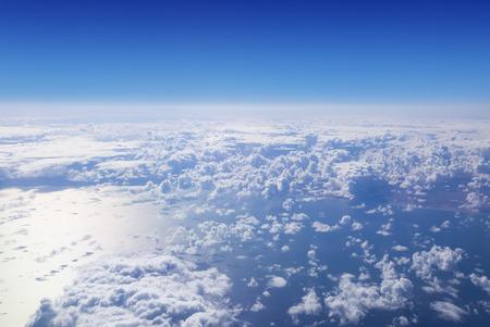 cumulus cloud: Cloudscape. Cielo blu e nube bianca. Giornata di sole. Cumulo sotto dell'oceano. Archivio Fotografico