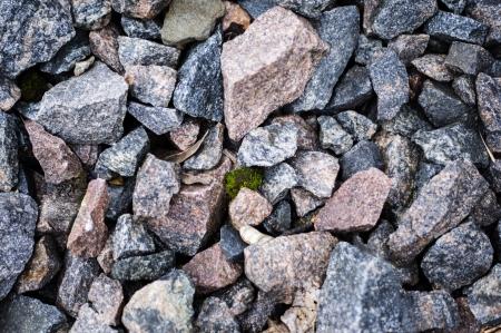 Road stone gravel texture to background photo