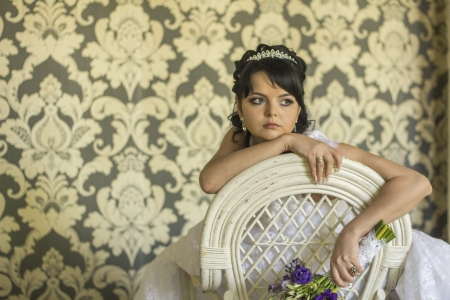 Sad beauty bride photo