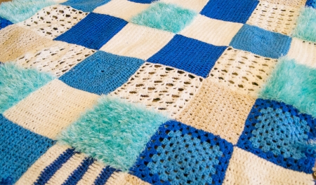Woolen checkered plaid photo