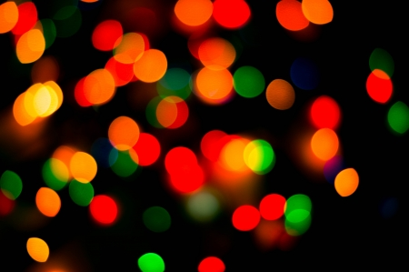 bokeh of christmas lights , abstract background photo