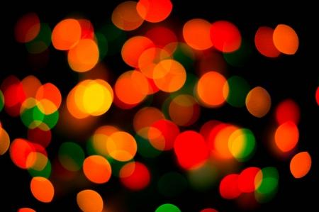 bokeh of christmas lights , abstract background photo