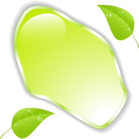 Green leaf with space for text  Vector Vector