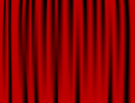 Luxury creases red curtain and many shadows  vector  Vector