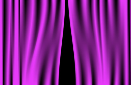 Luxury creases purple curtain and many shadows  vector  Vector